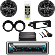 Harley FLHX FLHT Dash Kit, Amp, Kenwood Bluetooth CD Stereo, Speakers & Adapters