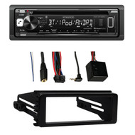 98-2013 Harley Adapter FLHT FLHX Dash Install Kit, Bluetooth CD USB Car Receiver