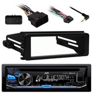 JVC  Bluetooth CD USB AUX Receiver, 99-9600 Harley Install Metra Single DIN Kit