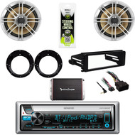 "2016 Bluetooth Stereo, Harley FLHT Install Kit, 6.5"" Speakers/Adapters, 300W Amp"