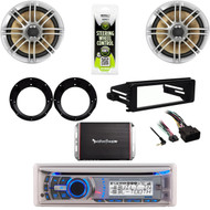 """Harley Install FLHT DIN Kit, Bluetooth Stereo, 300W Amp, 6.5"""" Speakers, Adapters"""