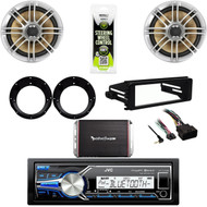 """FLHT FLHX Harley Install Din Kit, 6.5""""Speakers/Adapters,300W Amp, USB JVC Stereo"""