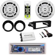 "Bluetooth CD Radio,FLHT FLHX Harley Install Kit, 6.5"" Speakers, Amp, Adapters"