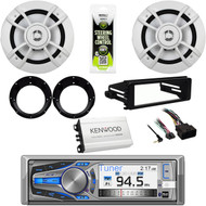 "Dual Bluetooth Stereo, Harley 98-2013 Dash Kit, 6.5""Speakers, Adapters, 400W Amp"