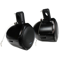 "Qpower QPTS65B Pair 6.5"" Inch Marine/ATV Tower Speakers, 300 Watt, Black"