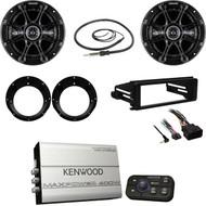 Kenwood Bluetooth Amplifier, Antenna, Harley FLHX Dash Install Kit, Speaker Set