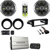 "Harley FLHX 98-2013 DIN Kit,Bluetooth Amplifier,XM Tuner,Kicker 6.75"" Speaker Set"
