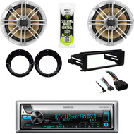 Bluetooth CD Stereo, FLHX Harley Dash Kit, Polk 6.5'' Marine Speakers/ Adapters