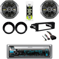 "2016 Bluetooth Stereo, Harley Install FLHX Kit, Kicker 6.75"" Speakers , Adapters"