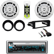 "98-2013 Harley FLHT Install Dash Kit, Bluetooth CD Stereo, 6.5"" Speakers/Adapters"