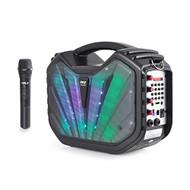 Pyle PWMA285BT Portable Bluetooth Karaoke MP3/USB/SD/FM Radio Speaker System, DJ Lights