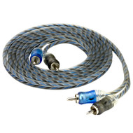 Scosche EFX 12' Performance Twisted Split-tip, 2-color Micro barrel RCA Cable