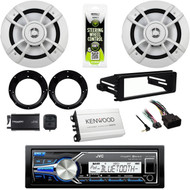 "JVC USB Harley FLHT 98-2013 Install Dash Kit, Amp,6.5""Speakers/Adapters,XM Tuner"