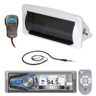 AM400W Dual Marine AUX USB CD Radio, Antenna, Radio Housing,  Bluetooth Handset