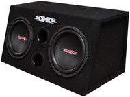 "Xxx Bass Pkg.Dual 10"" W/Amp + Amp Kit. Black Woofers"