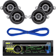 "JVC KD-AR959BS Arsenal Series In-Dash CD Receiver, Kicker DSC35 (41DSC354) 3-1/2"" D-Series Coaxial 2-Way Car Speakers With 1/2"" Tweeters, 14 Gauge 50 Foot Speaker Wire"