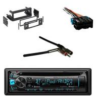 Kenwood Bluetooth USB CD Radio, Metra Antenna Adapter, GM Wire Harness, Din Kit