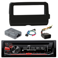 JVC KD-R370 Single DIN In-Dash CD/AM/FM/ Receiver,  Scosche 2014-Up Harley Davidson Handlebar Controls, Scosche HD7001B 2014-Up Harley Davidson Stereo Install Dash Kit