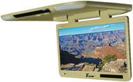 "Tview 25"" Tft Flipdown Monitor Built In Ir Remote Light Tan"
