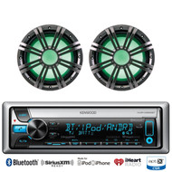 "2 Kicker 4ohm 10"" Marine Subwoofers, Kenwood Bluetooth iPod CD Marine Receiver"