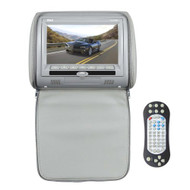 Pyle PL73DGR 7-Inch Wide Screen Hi-Res Headrest Video Display Monitor with Built-in DVD Player, USB /SD Readers, Remote Control (Gray)