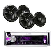 "KMR-D368 Boat CD/MP3 USB iPod iPhone Pandora Receiver+ 4 JVC 6.5"" 2-WAY Speakers"