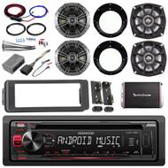 Harley CD Install FLHT Adapter Install Kit, Kicker Speaker Set,Amplifier and Kit