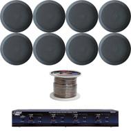 "5.25"" Mid Bass 2In-Ceiling 2Way Speakers,Speaker Wire,4 Channel Speaker Selector"