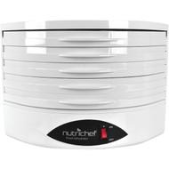 NutriChef Food Dehydrator - Electric Kitchen Dehydrator - Jerky Maker - Dried Fruits (PKFD18WT)