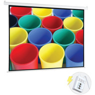 "Pyle 72"" Motorized Projector Screen, Electronic Automatic Display, Includes Remote Control (PRJELMT76)"