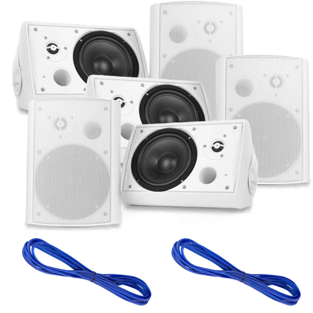 Pyle PDWR51BTWT Pyle Wall Mount Waterproof & Bluetooth Speakers ...