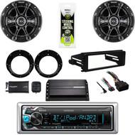 Bluetooth USB Kenwood, XM Tuner,Harley FLHX Install Kit, Amp, Kicker Speaker Set