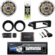 "Harley 98-2013 FLHT Din Kit,USB Stereo,XM Tuner,6.5"" Speakers, Adapters,300W Amp"