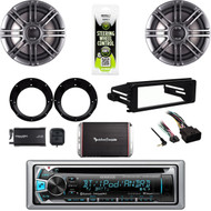 "Harley 99-9600 FLHTC DIN Kit,Bluetooth Stereo,XM Tuner,6.5"" Speaker Set,300W Amp"