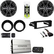 Bluetooth Kicker Amplifier,Harley FLHX Install Kit, XM Tuner, Kicker Speaker Set