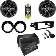 "Harley FLHT Install 98-2013 Adapter Kit,6.5""Speaker/Adapters,Bluetooth Amplifier"
