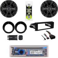 "Dual CD Bluetooth Radio, XM Tuner,FLHX FLHT Harley Install Kit, 6.5""Speaker Set"