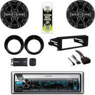 "6.5"" Kicker Speakers/ Adapters, CD Stereo-XM Tuner, Harley FLHX Install Dash Kit"