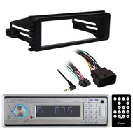 Lanzar Bluetooth Marine Radio, Harley 98-2013 FLHX In Dash Install FLHT Adapter