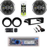Dual Bluetooth CD Stereo, Harley 98-2013 FLHX Install Kit, XM Tuner, Speaker Set