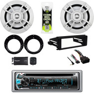 "Harley 98-2013 Install Dash Kit, 6.5""Speakers,Adapters,XM Tuner,Bluetooth Stereo"