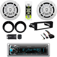 "Bluetooth Kenwood Radio,XM Tuner,Harley Install Dash Kit, 6.5"" Speakers,Adapters"