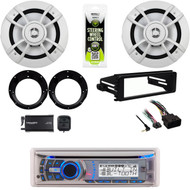 "Bluetooth USB Radio,Harley FLHT Install Kit, 6.5"" Speakers, Adapters, XM Tuner"