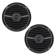 New Pair Rockford Fosgate 6.5-Inch Marine Baat Yacht Full Range Speakers, Black RM0652B
