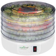 New Pyle PKFD12 NutriChef Kitchen Electric Countertop Food Dehydrator, Food Preserver, White