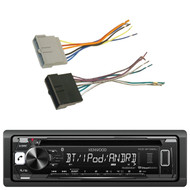 Kenwood KDC-BT265U In Dash CD DIN Bluetooth Stereo Receiver, Scosche 1986-97 Ford Power/Speaker Connectors