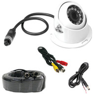 New PLCMRV9W Rearview Backup Parking/Reverse Camera, Waterproof, Night Vision, Distance Scale Lines, Angle Adjustable, Commercial Grade, Front/Rear Mountable, 12/24 Volt (Trailer, Bus, Camper, Motor Home, Truck, RV, Big Rigs)