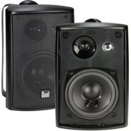 Dual Electronics LU43PB 3 Way Indoor Outdoor Studio Speakers in Black with Swivel Brackets