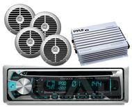 "Kenwood Marine USB CD iPod Bluetooth Radio, 6.5"" Silver Speakers,400W Amplifier"