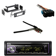 Bluetooth Pioneer CD Car Receiver,GM Wire Harness, Antenna Adapter,Metra DIN Kit